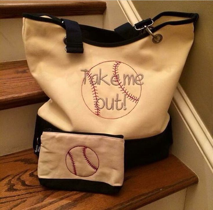 Thirty-One Canvas Crew Tote ... Hello baseball fans! :)