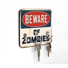Porta Chaves Beware Of Zombies - Have Fun  Um ótimo produto criativo para fugir do tradicional. Os porta chaves são peças discretas, porem muito importantes na decoração da casa, com essa peça inusitada, você vai deixar o ambiente com um toque de bom humor