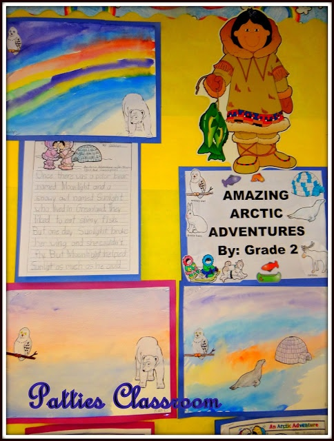 Mama Do You Love Me Eskimo activities and writing project and watercolors #Northern Lights #Eskimo #Mama Do You Love Me.