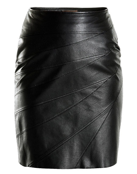 Leather pencil skirt. Just add a sequin top and it would be the perfect outfit!