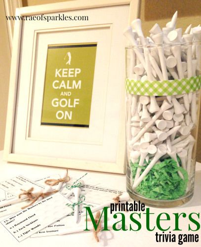 Free Printable Masters Trivia Game // Masters Golf Tournament // Golf Trivia // Golf  Party Decorations