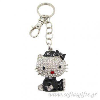 Μπρελόκ Hello Kitty black Νο 2 - Είδη σπιτιού και χειροποίητες δημιουργίες   Σοφία