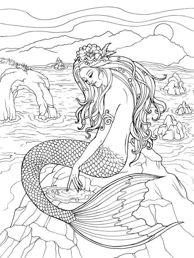 Cool Mermaid Coloring Pages To Spend Your Free Time At Home Mermaid Coloring Book Mermaid Coloring Pages Fairy Coloring Pages