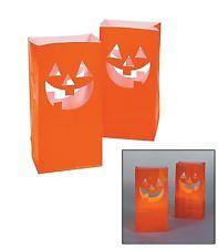 Fun Express JackOLantern Luminary Bags/Pumpkins/Halloween/Party Supplies Novelty