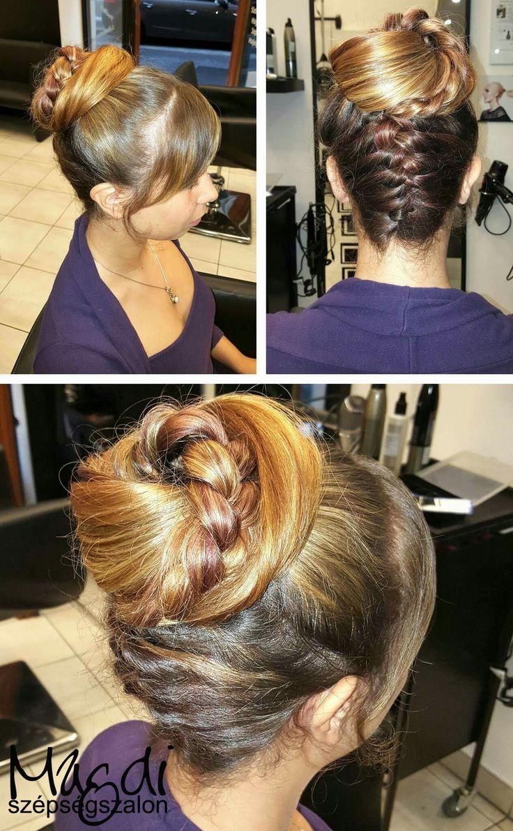 Nem gondolnátok, de ilyenkor is vannak esküvők :) Magdi, egy csodás kontyot készített :)  www.magdiszepsegszalon.hu  #hairbun #hairdresser #fodrász #beautysalon #szépségszalon #konty