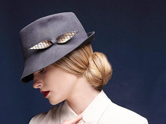 15% ON SALE Felt Fedora Hat For Women Fedora Hat by JustineHats