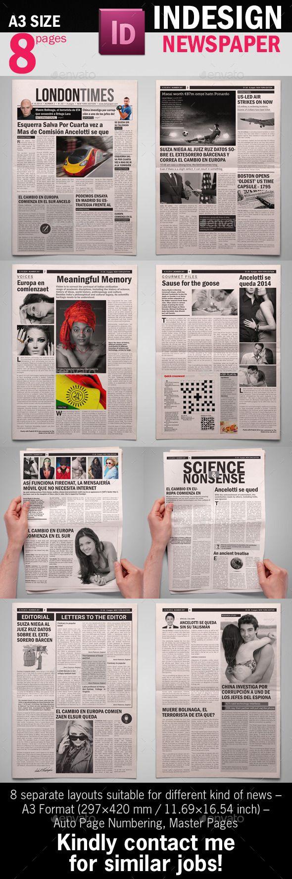 22 best Newspaper Templates images on Pinterest | Editorial design ...