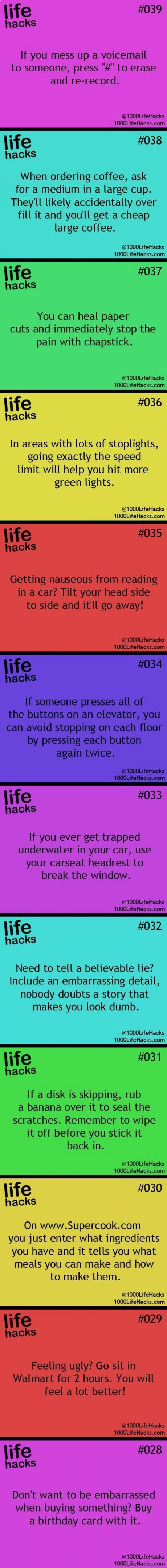 Random Life Facts. Some of these are actually kinda interesting:)
