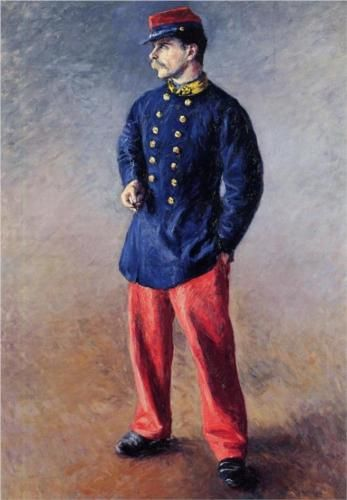 A Soldier - Gustave Caillebotte, 1881, private collection