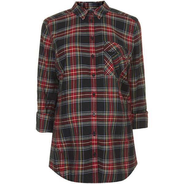 TOPSHOP MATERNITY Oversized Check Shirt ($25) ❤ liked on Polyvore featuring maternity, tops and multi