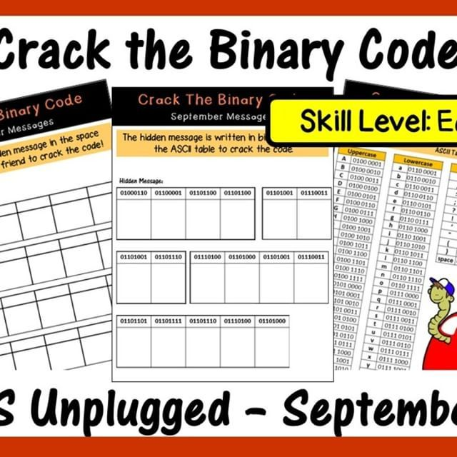 Teach your students how to encrypt and decrypt binary messages as