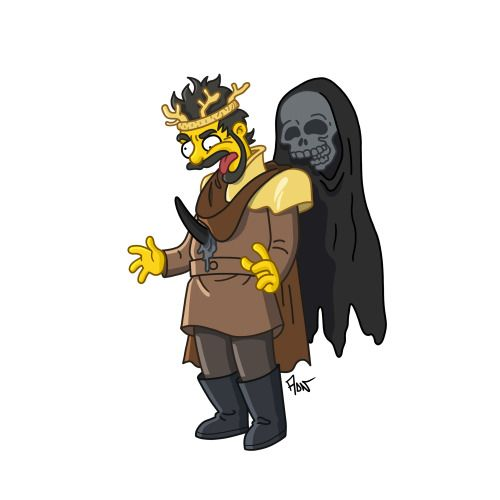 "Renly Baratheon from ""Game of Thrones"" / Simpsonized by ADN"