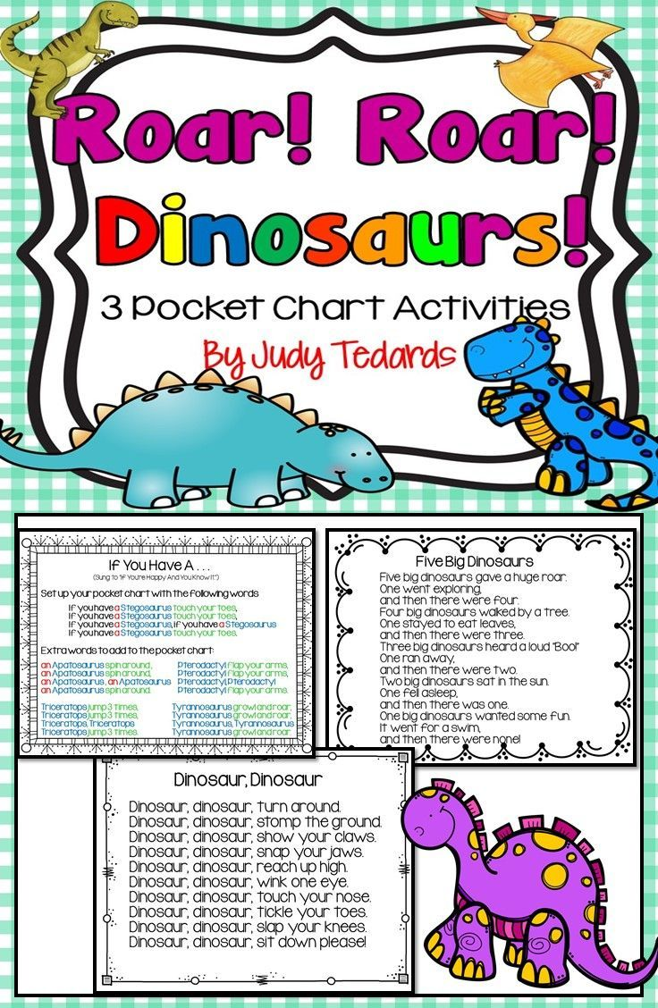 roar roar dinosaurs 3 pocket chart poems and songs pocket charts activities and the o 39 jays. Black Bedroom Furniture Sets. Home Design Ideas