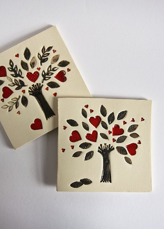 ceramic art tile wall hanging Tree of Life home decor. by karoArt, €34.00