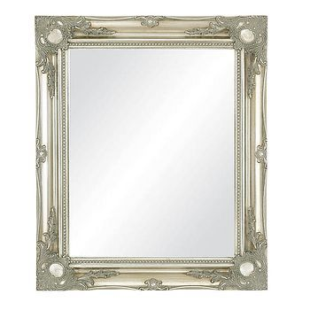 Large Silver Antique Style Mirror