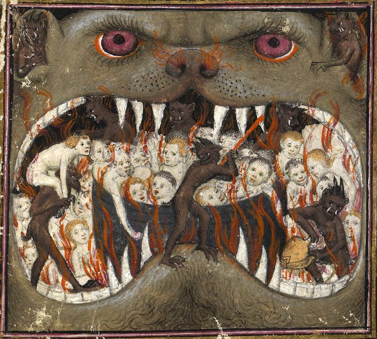 mouth of hell Thomas de Saluces, Le Chevalier errant, Paris ca. 1403-1404. BnF, Français 12559, p. 192