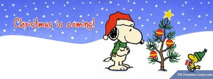 christmas is coming snoopy peanuts facebook covers. Black Bedroom Furniture Sets. Home Design Ideas