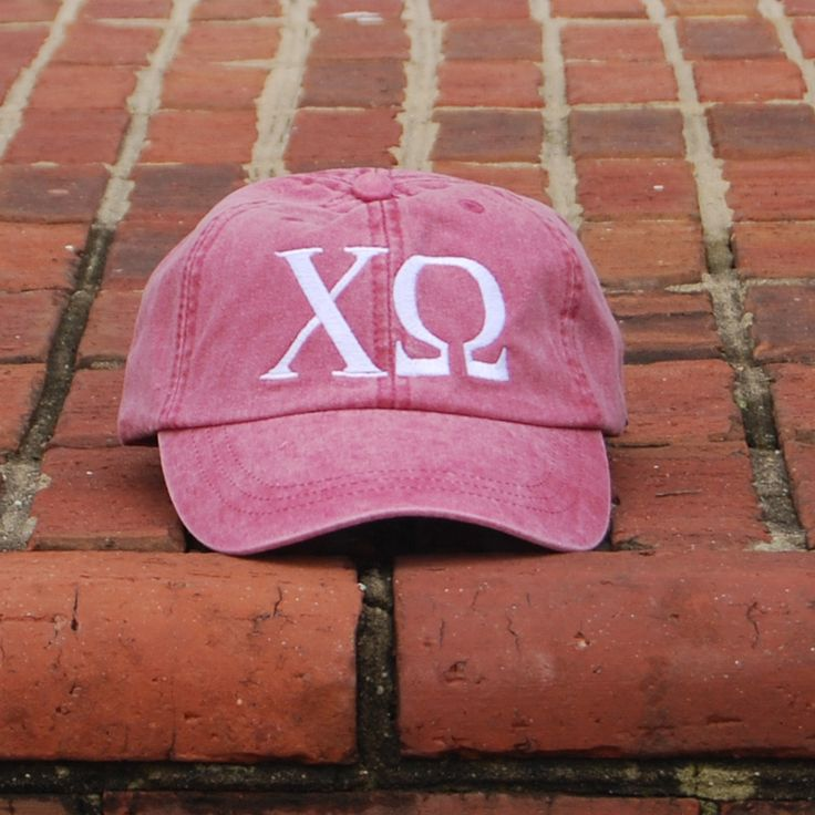 Red Washed Cap – Chi O Creations