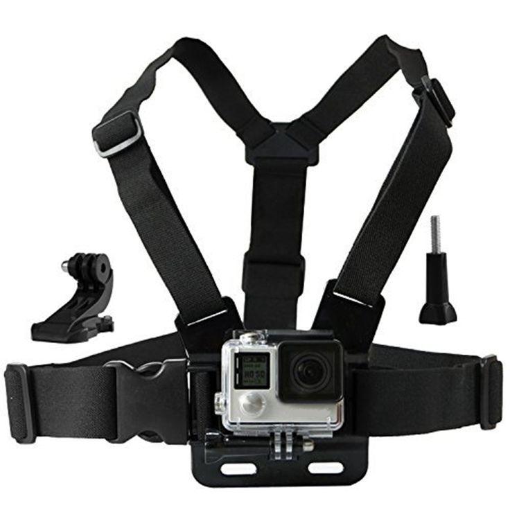 Actie camera chesty strap voor gopro hero 5 4 sjcam sj4000 borst mount harness voor go pro sjcam xiaomi yi sport camera 10