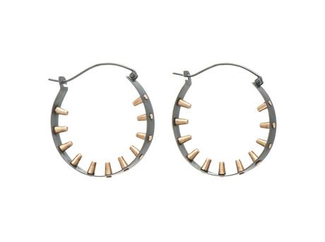 Inverted Stud earrings by Emma Jane Donald  )Oxidised silver, 9ct yellow gold)