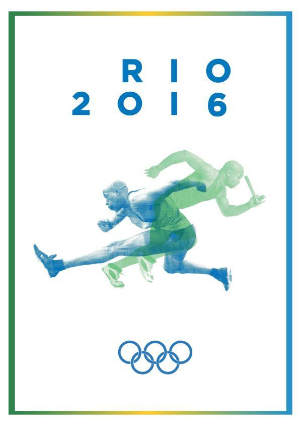 Who's with me?!? Tina Rose Sara Erickson            Rio 2016 by Laura Vandenbergh, via Behance