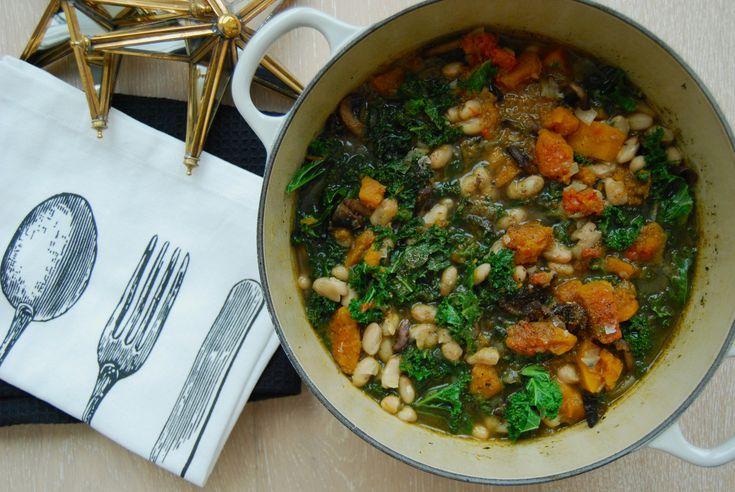 Grønnkål og flaskegresskar suppe!