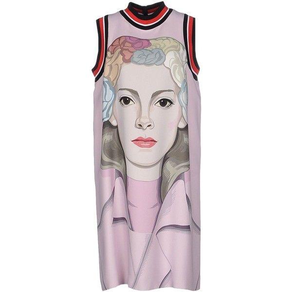 PRADA Short dress (1,440 CAD) ❤ liked on Polyvore featuring dresses, pink dress, mini dress, pink mini dress, prada and short dresses