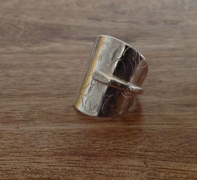 Handcrafted Silver Vintage Cutlery - Spoon Ring - Size R £35.00