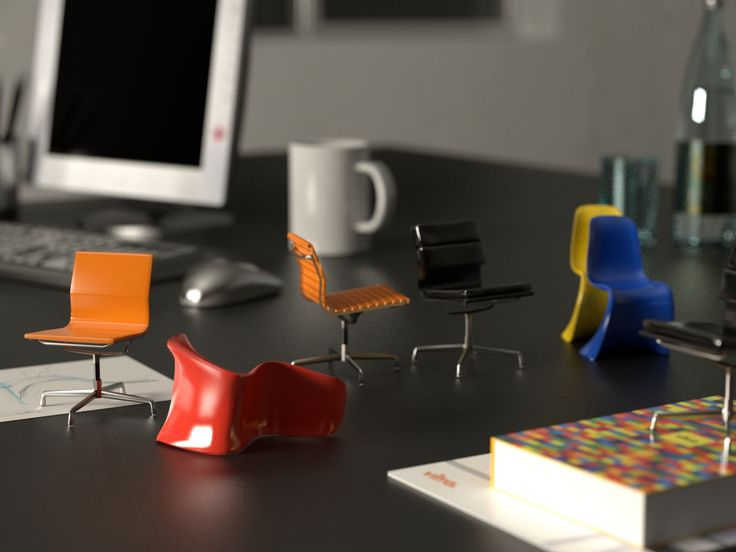 Desk Close-up_render with Maxwell Render