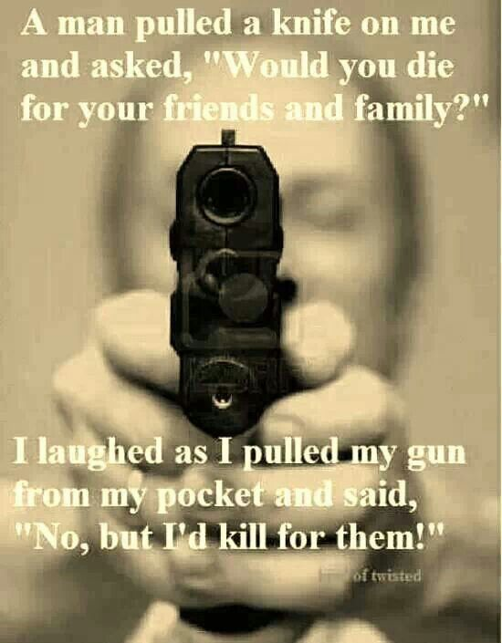 I'm afraid of guns....but believe everyone should RESPONSIBLY know how to handle one.