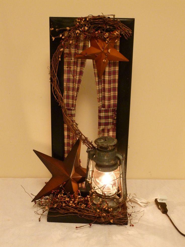 Window Frame Shelf,Country,Primitive,Home Decor,Railroad Lantern,Handcrafted | eBay. Susanne Kapaska