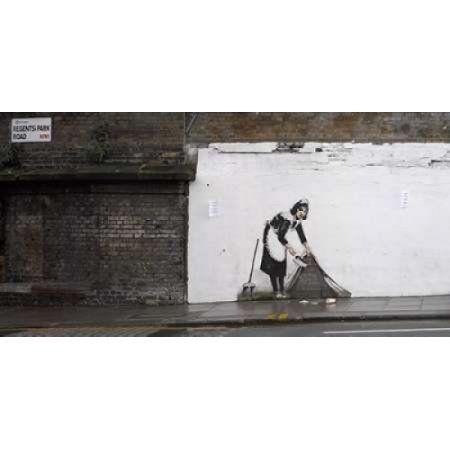 Posterazzi Regents Park Rd Camden London-graffiti attributed to Banksy Canvas Art - Richard Bryant (10 x 20)