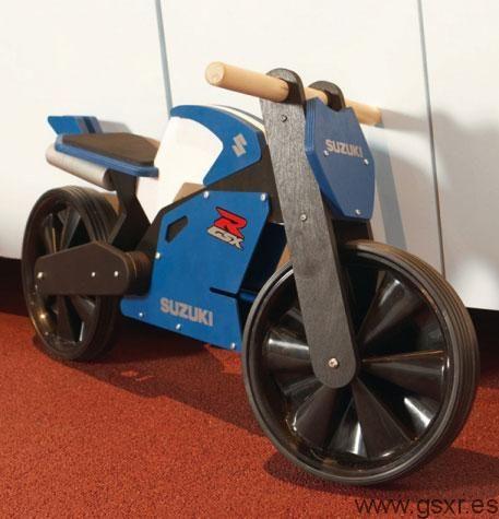 Moto GSXR de madera para niños de 3 a 5 años