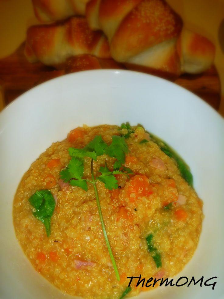 Quinoa, Bacon and Sweet Potato Soup