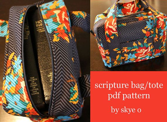 PATTERN scripture bag/tote in pdf by skyeoshop on Etsy