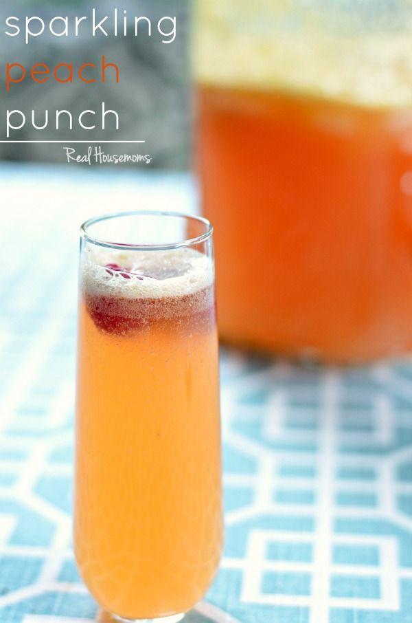 Peach and raspberry
