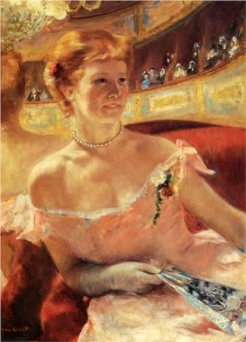 Woman with a Pearl Necklace - Mary Cassatt - 1879
