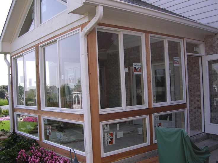 Converting a screened porch into a 4-season room is an easy way to expand your indoor/outdoor living space.
