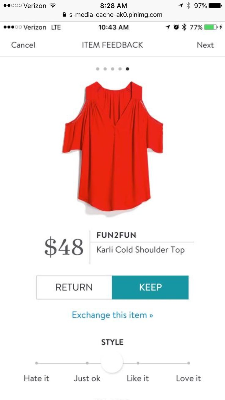 Want to try this cold shoulder top that can be worn with a regular bra, and love the red.
