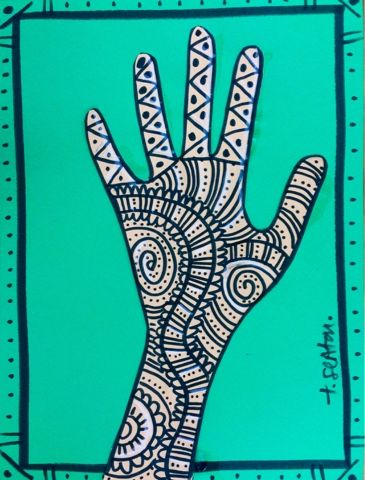 The Lost Sock : Mehndi Hands - henna - would be a good sub lesson too