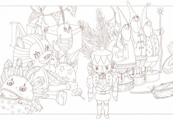 Игрушки из раскраски «Бесконечная книга: Тами и Сами»