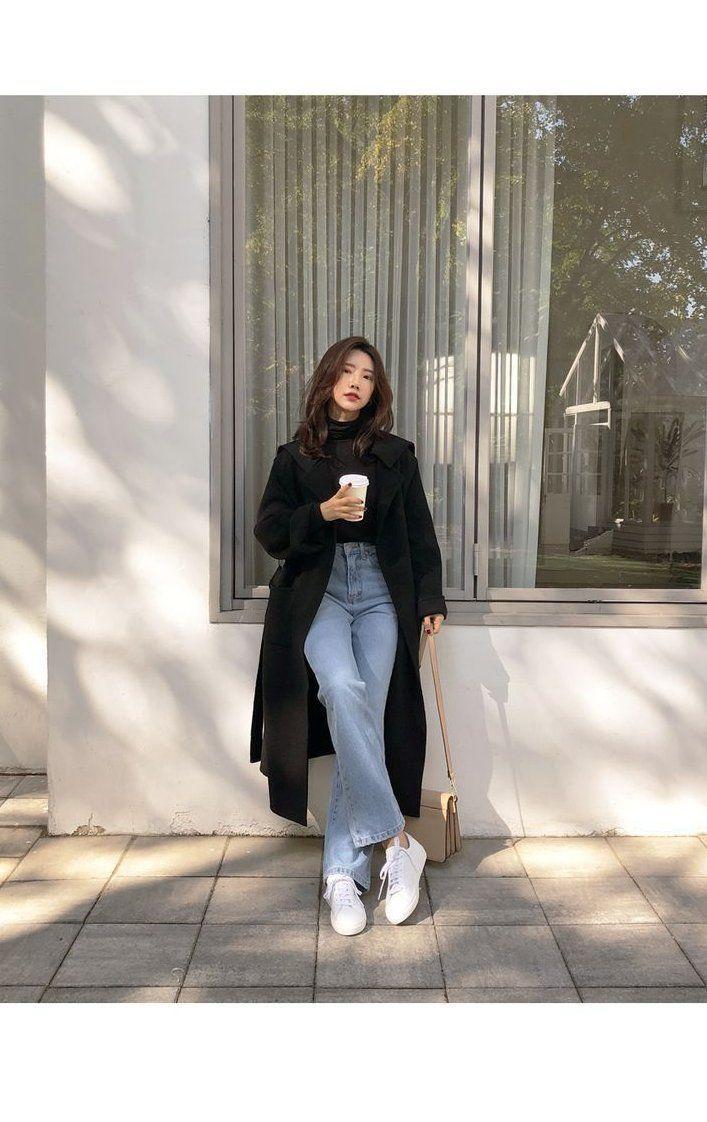 winter outfits japan  Korean outfit street styles, Korean girl