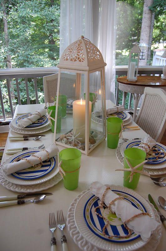 Coastal Summer Table Setting