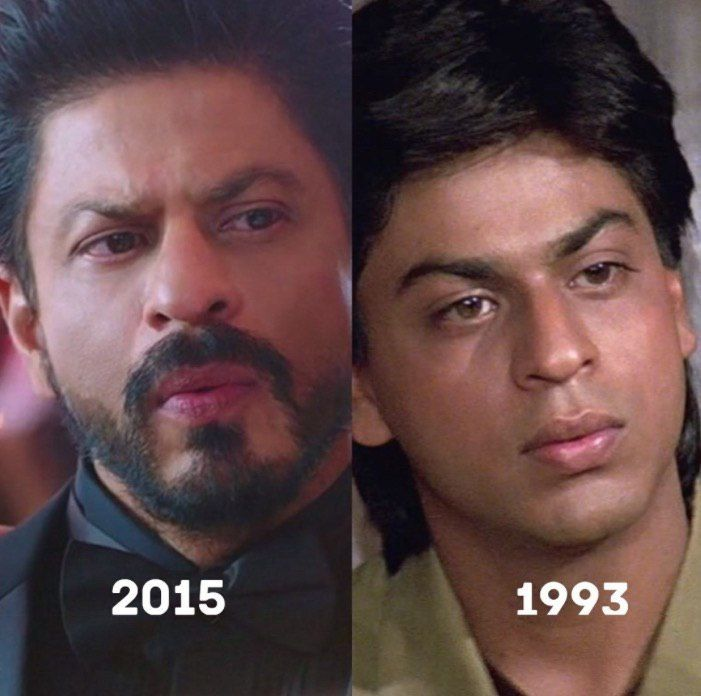 Shahrukh Khan over the time from 1993 to 2015