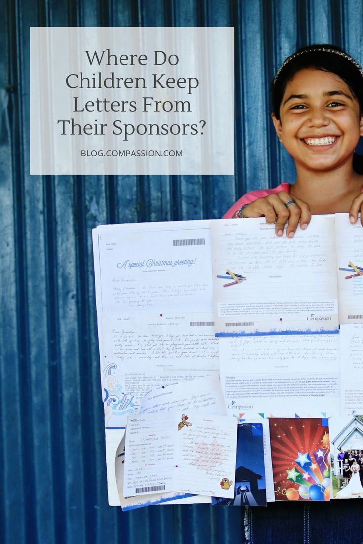 modern format of letter writing%0A Compassion students around the world show us the special places they keep  the treasured letters you