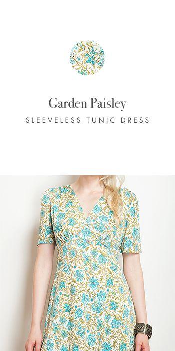 GARDEN PAISLEY SHORT SLEEVE TUNIC http://www.kimco.ca/product/garden-paisley-short-sleeve-tunic/