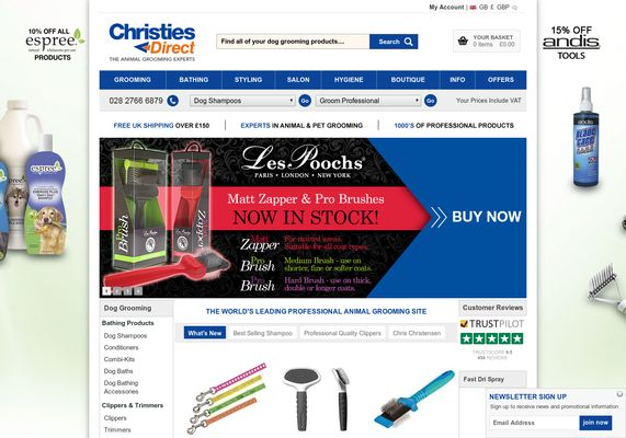 flygcforum.com ✈ CHRISTIES DIRECT ✈ Dog Grooming & Animal Grooming Specialists - Buy Online ✈