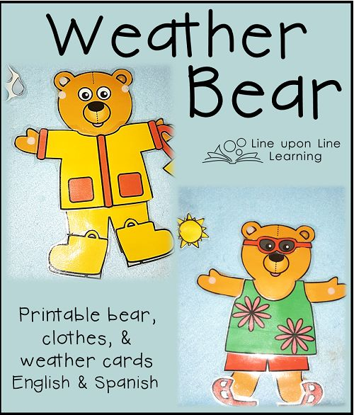 Weather Bear (dressing for the weather) // via Line upon Line Learning