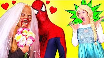 Spiderman & a Zombie Marries - Frozen Elsa Funny Pranks Compilation - YouTube