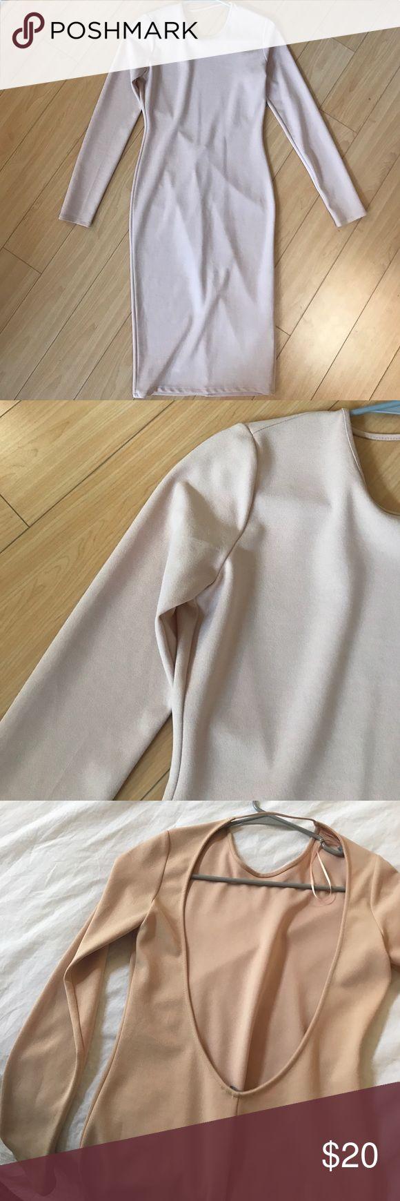 Nude Bodycon Dress Worn once Zara Dresses Midi